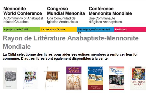 Literrature mondiale Ménnonite sur le site du CMM